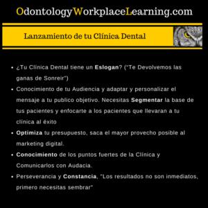 El Lanzamiento de tu Clínica Dental